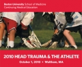 2010 Head Trauma and the Athlete conference brochure cover